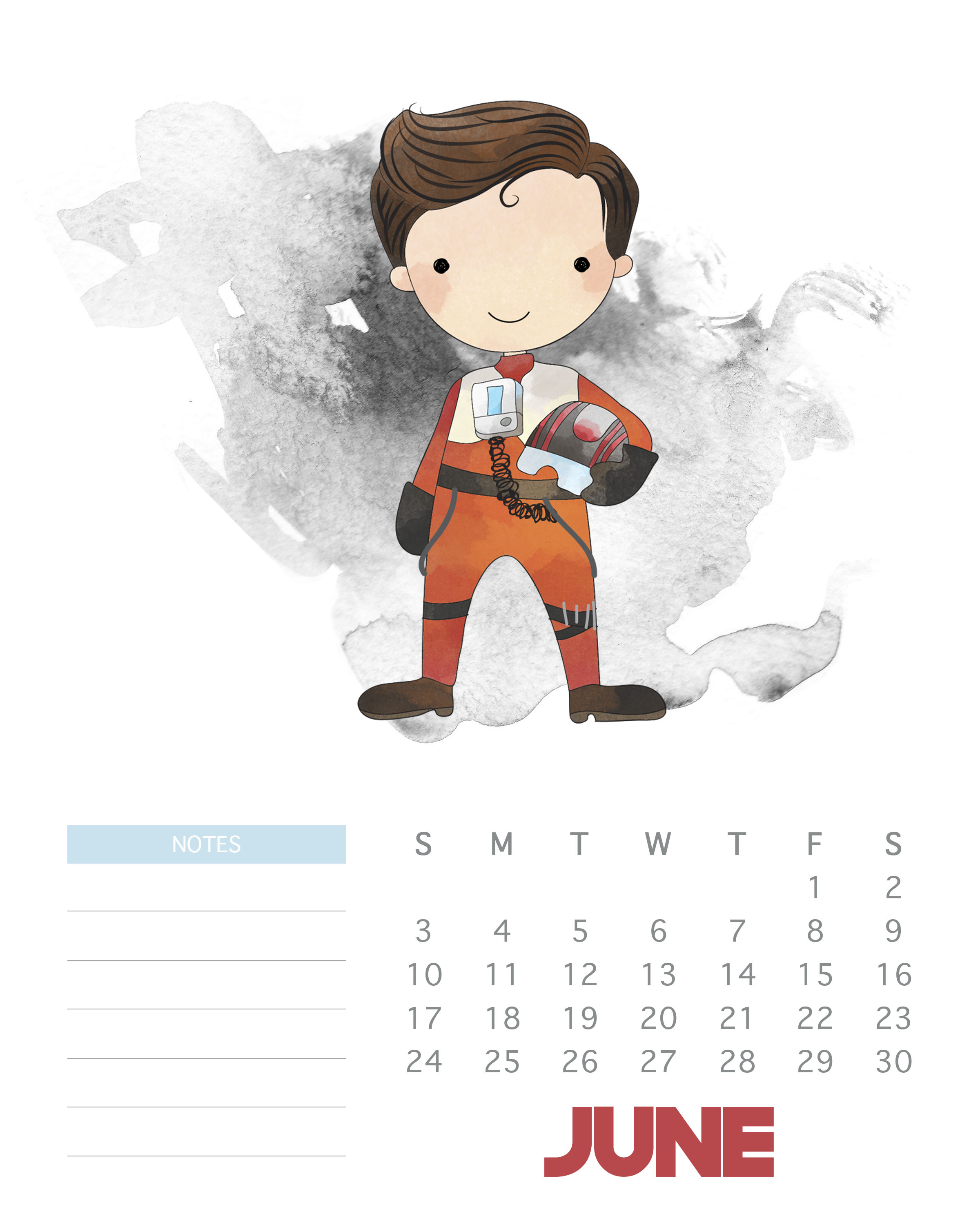 June 2018 Star Wars Calendar, Formal calendar June 2018