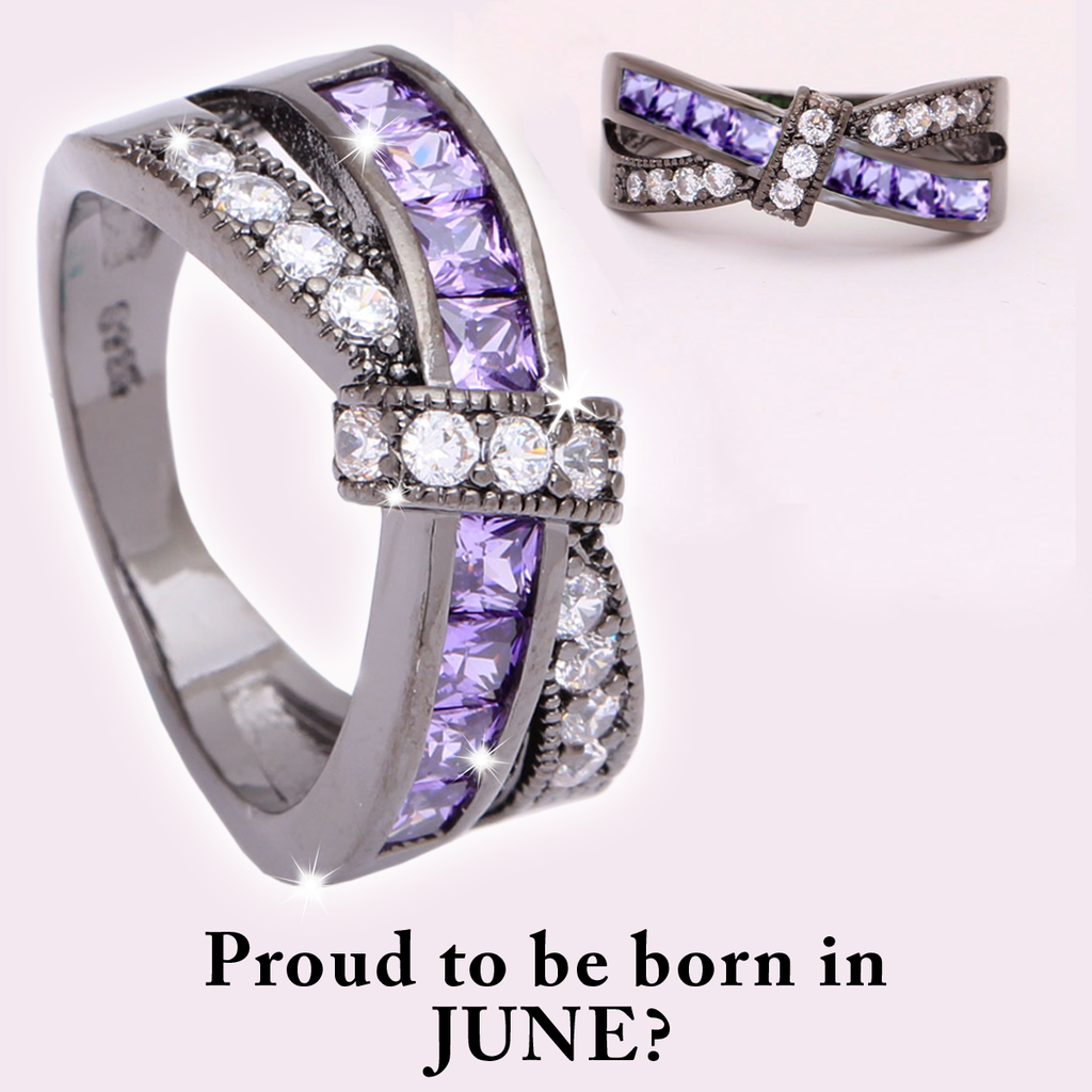 June Birth Stone Ring