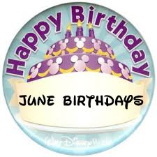 June Birthday Images Card Disney World