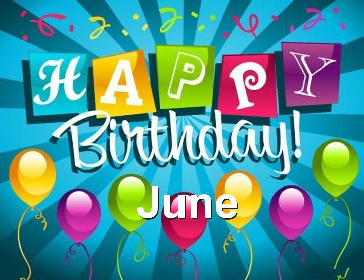 June Birthday Images Colorful Background