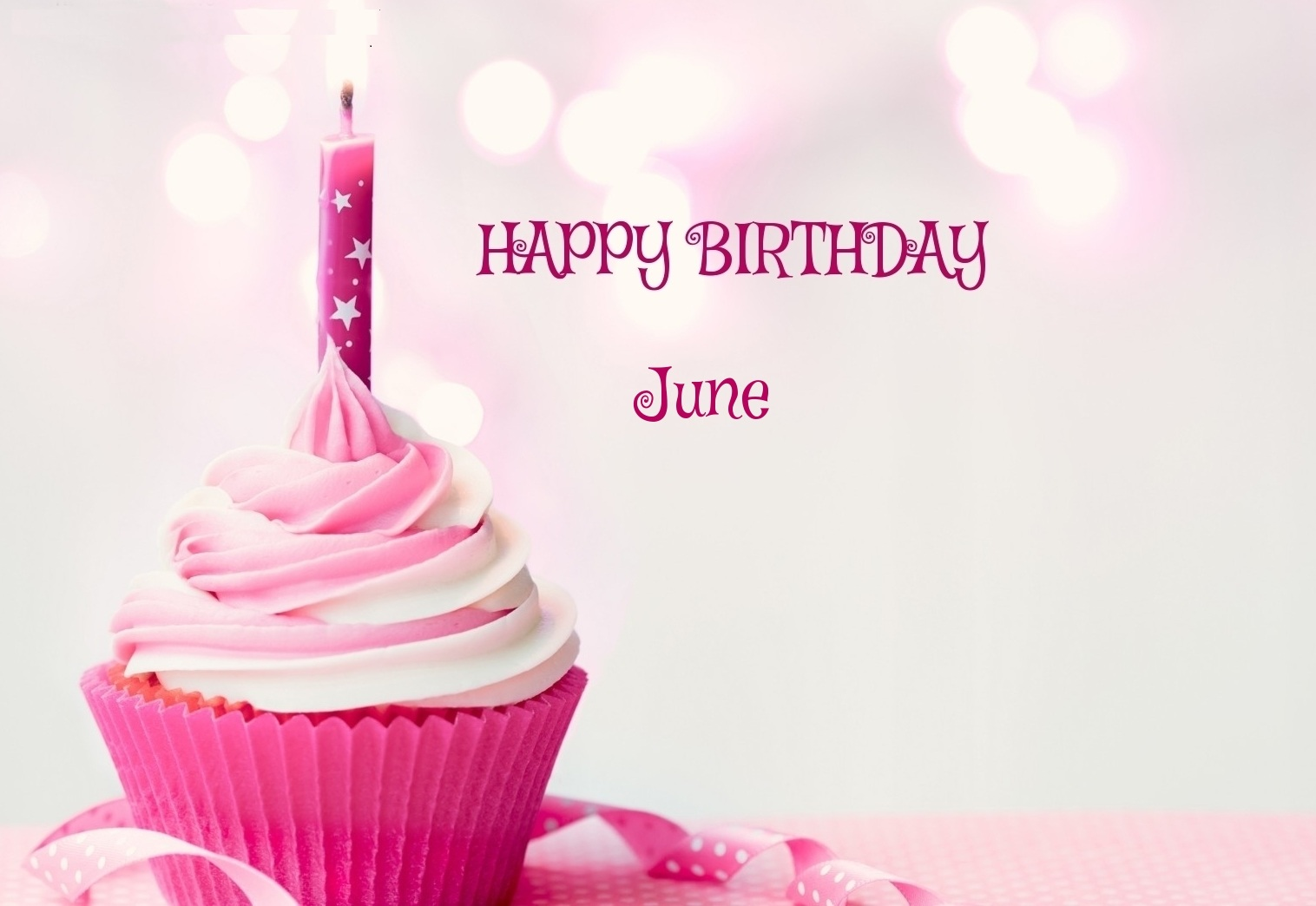 June Birthday Images Cup Cake