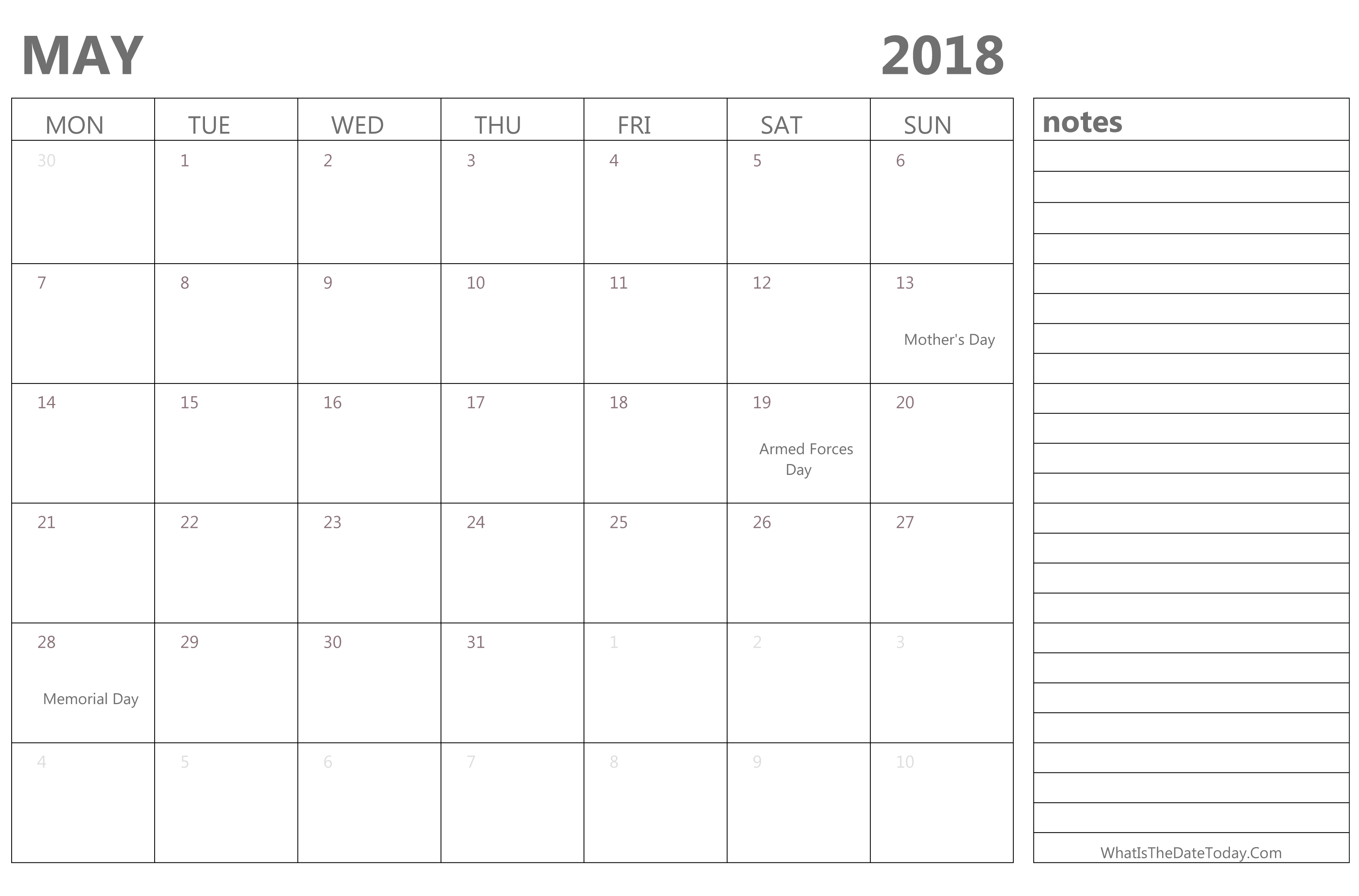 Calendar Download May : May calendar pdf template download