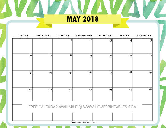 May 2018 Floral Calendar