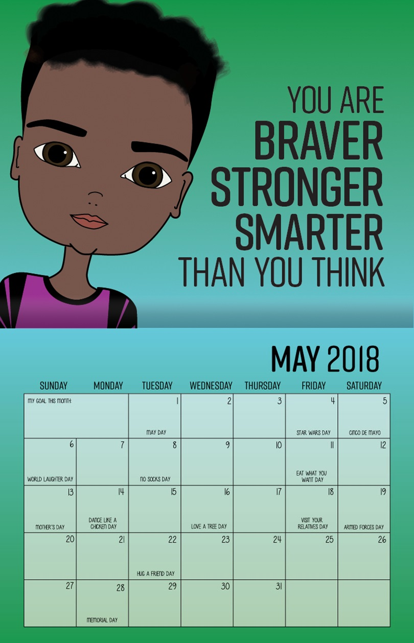 May 2018 Inspirational Wall Calendar