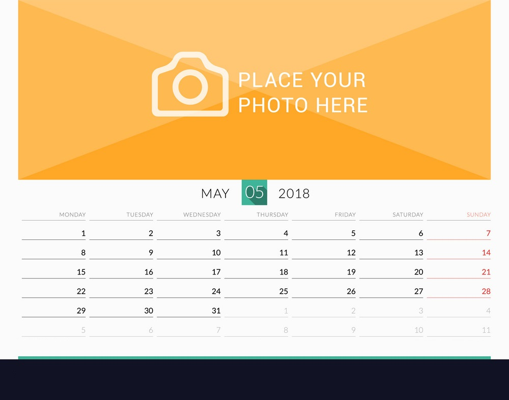 May 2018 Printable Wall Calendar