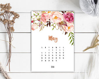May 2018 Wall Printable Calendar
