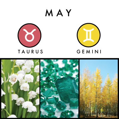 May Birth Sign, Taurus Sign , Gemini Sign