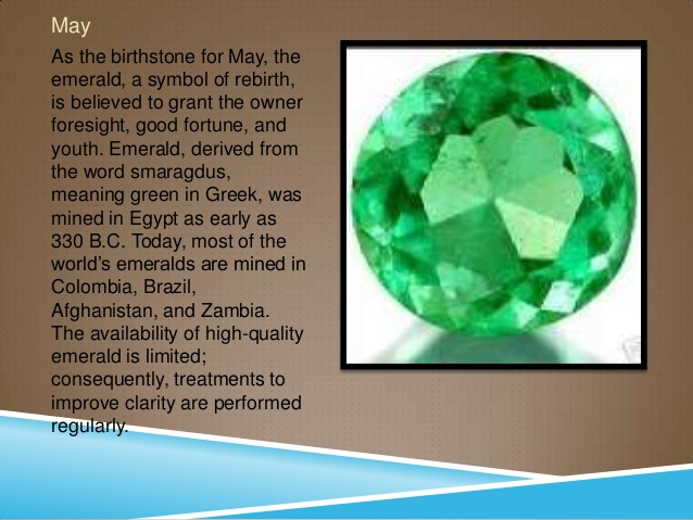 May Birthstone, Birthstone for May