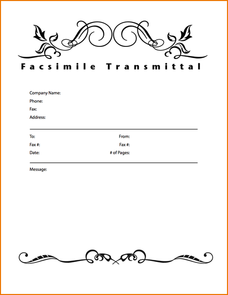 printable cover sheet fax