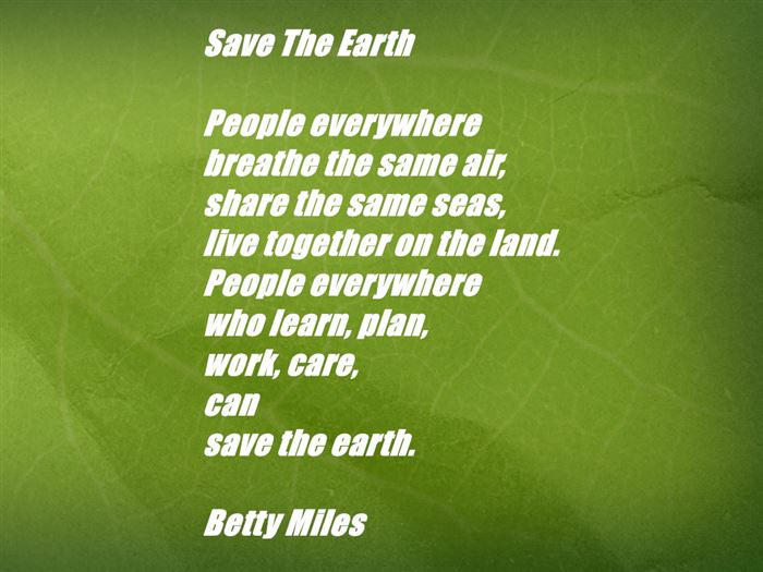 Save Earth Day Poem