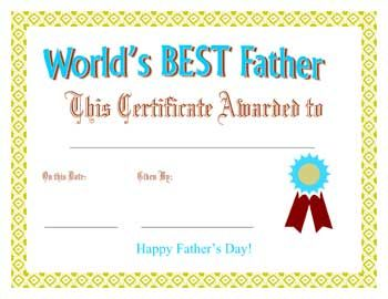 Cute Fathers Day Card Template