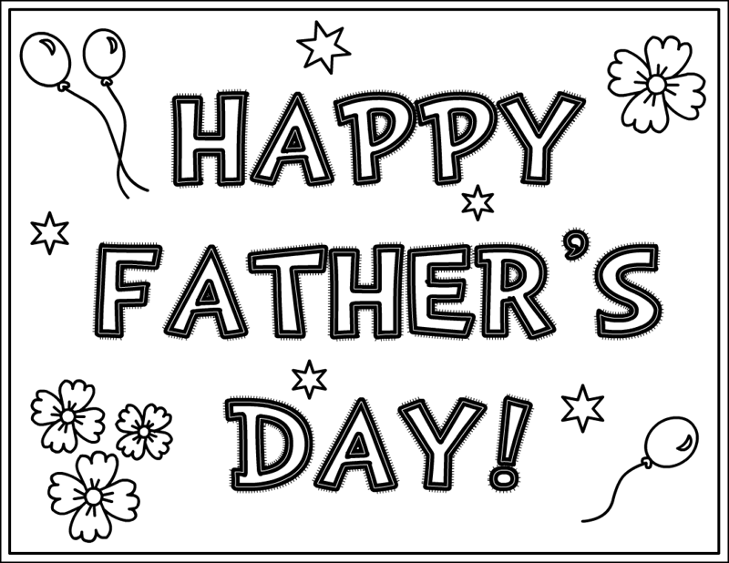 Fathers Day Clip Art Black and White