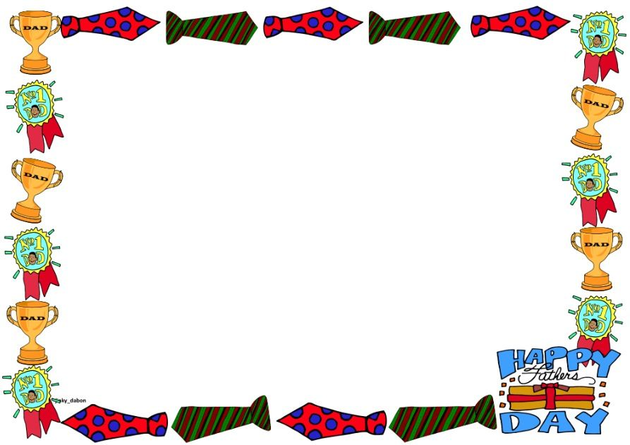 Fathers Day Clip Art Frame