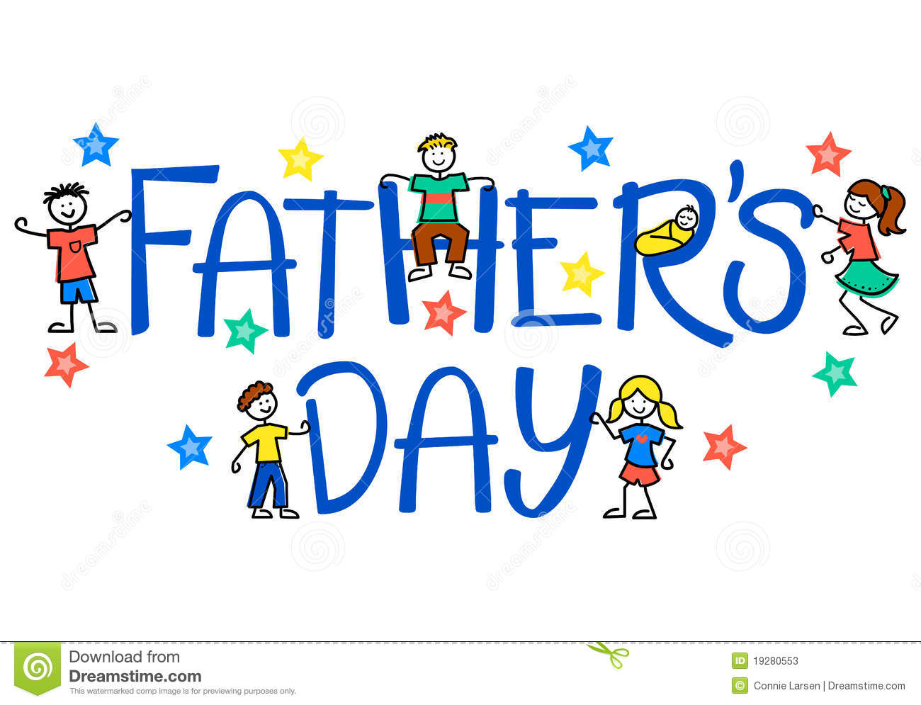 Fathers Day Clip Art With Flower