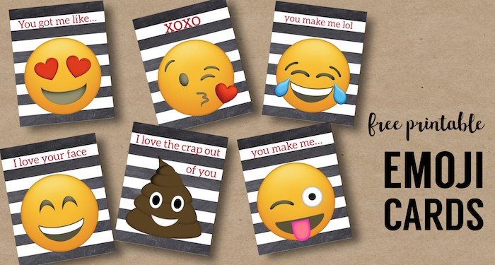 Fathers Day Emoji Printable Cards