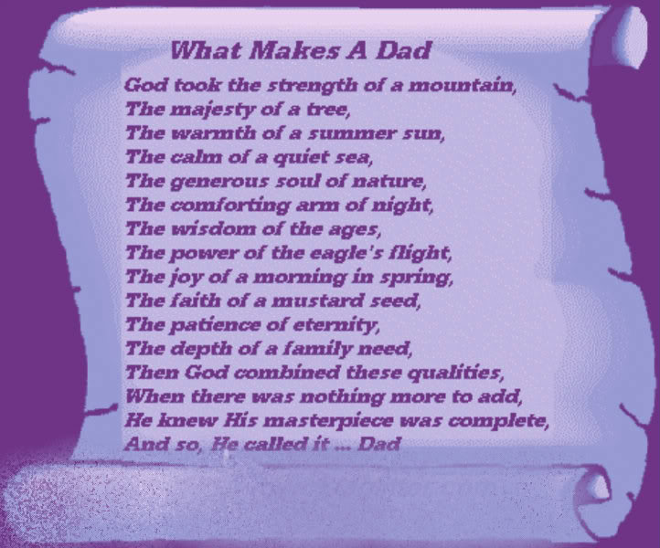 Fathers Day Poem Photo