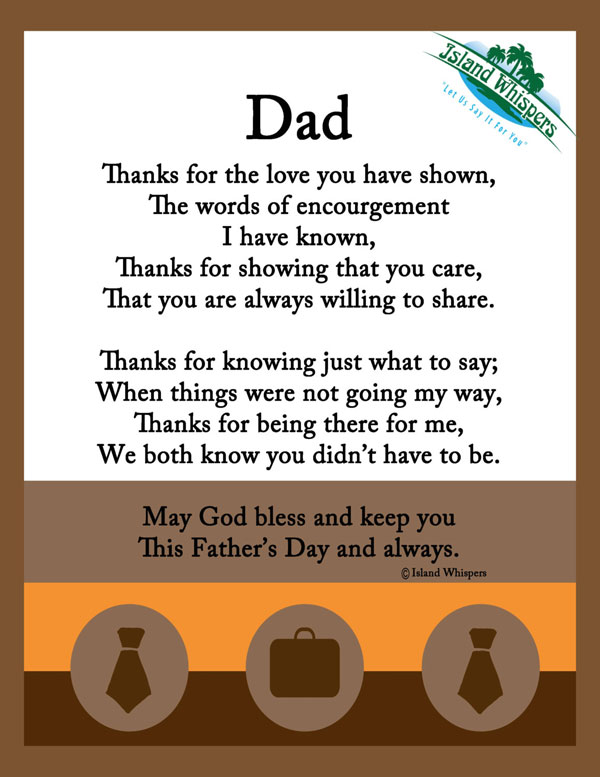 Free Fathers Day Poem