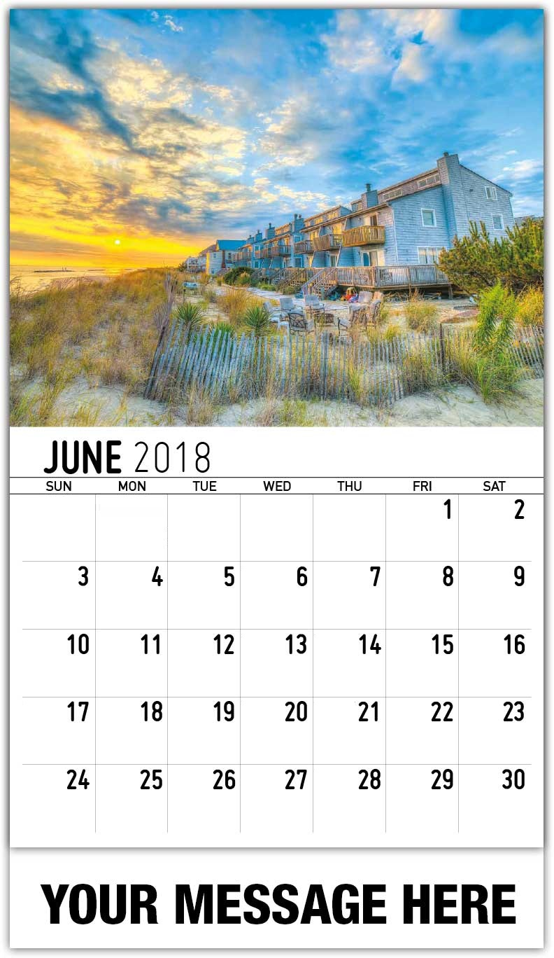 Free Personalized June 2018 Calendar