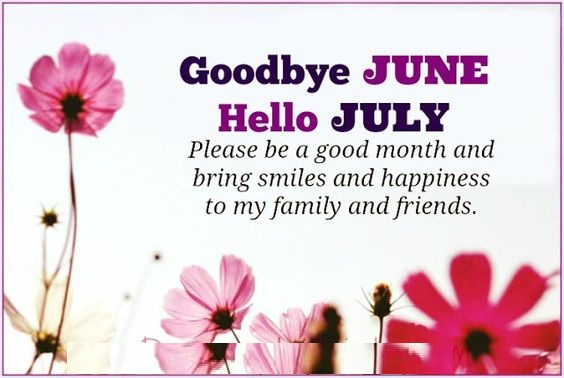Good Bye June Hello July Images Monthly Quotes
