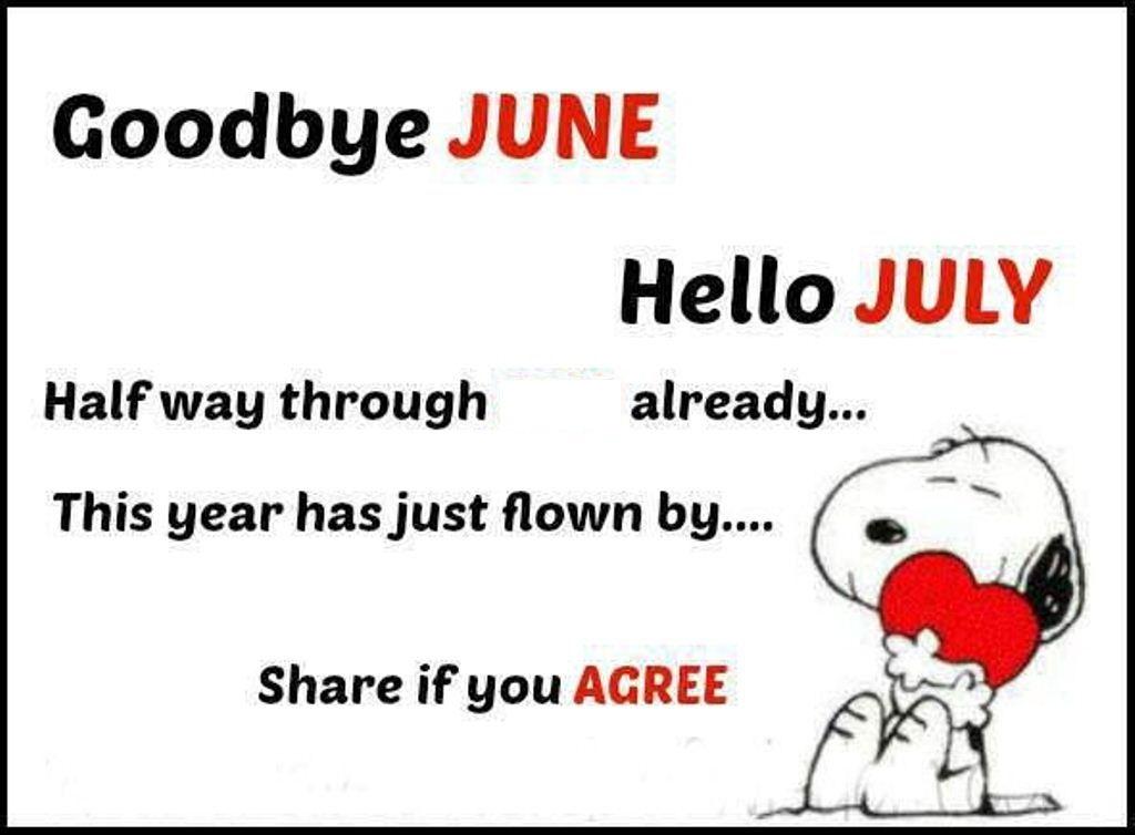 Goodbye June Hello July Images Quotes