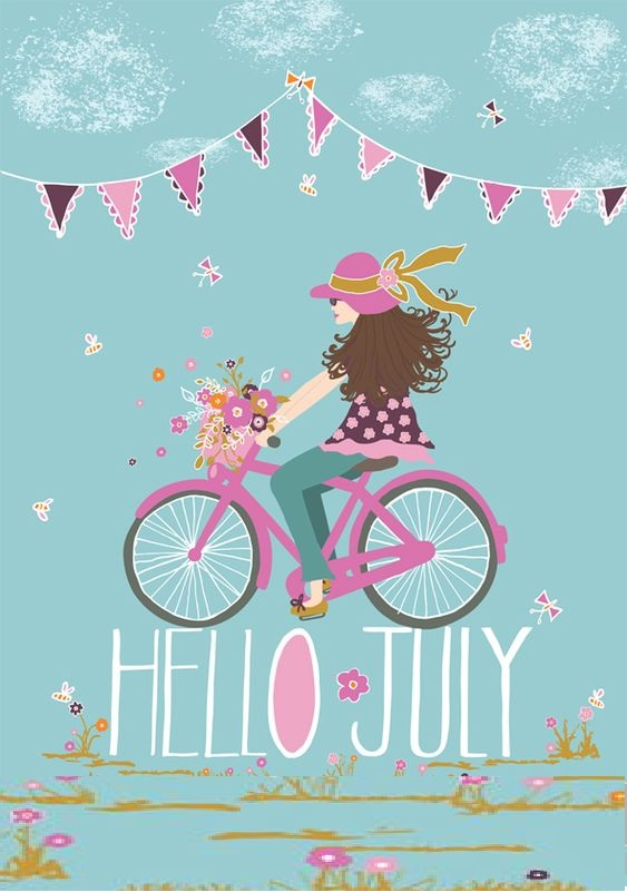 Hello July Images Cute Girl