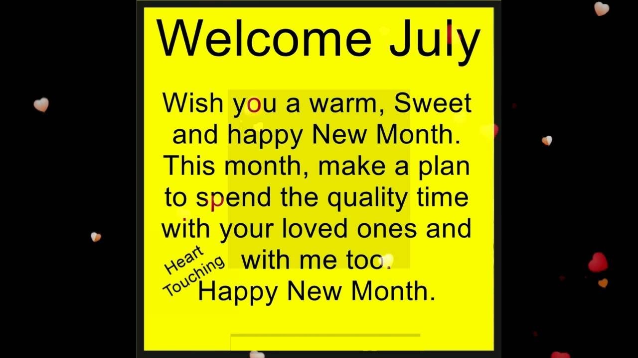 Hello July Month Quotes Card