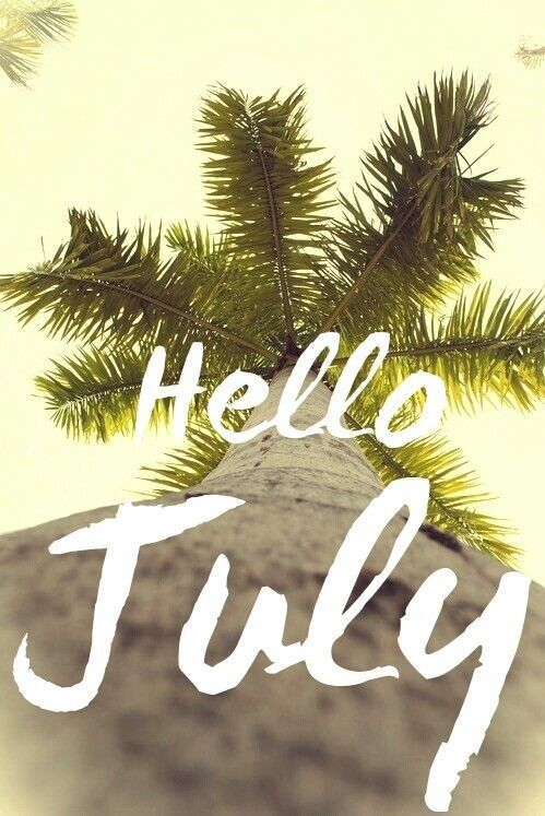 Hello July Quotes Nature Wallpaper
