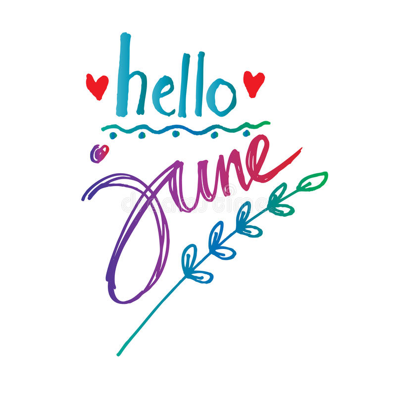 Hello June Clipart Images
