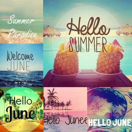 Hello June Images Collage