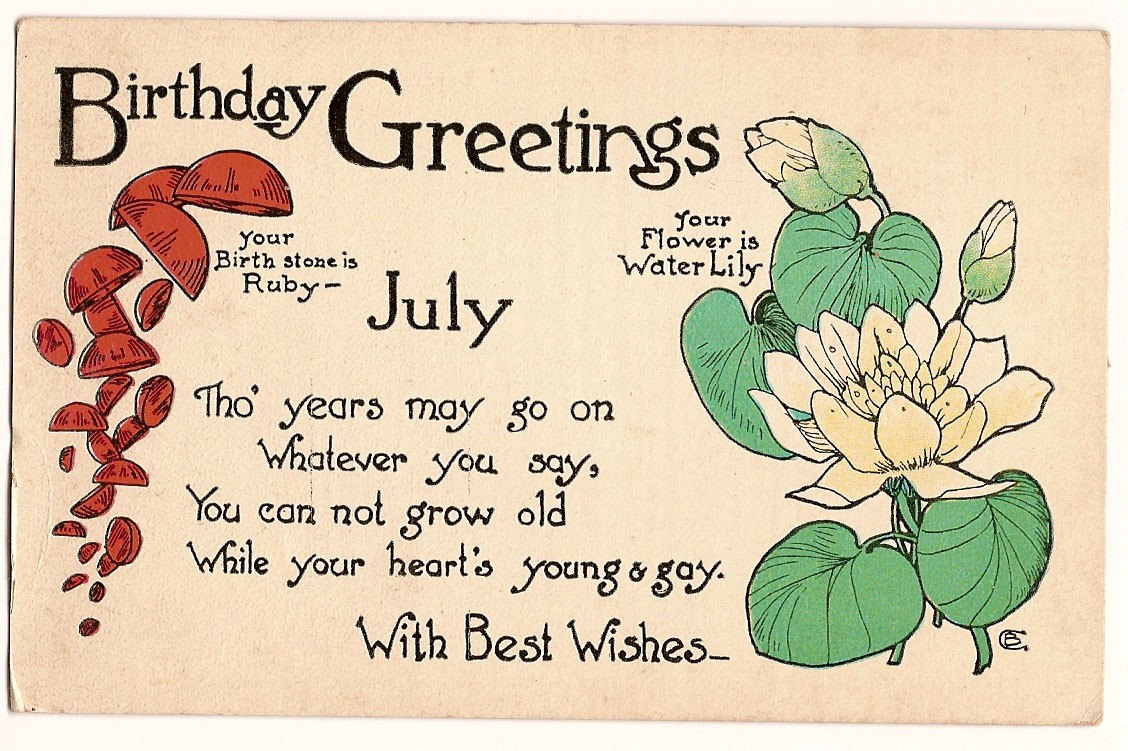 July Birth Flower Meaning With Greeting