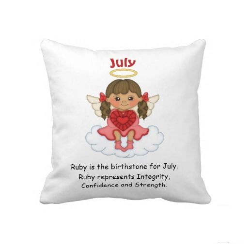 July Birthstone Beautiful Pillow