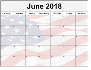June 2018 Calendar Uk Flag