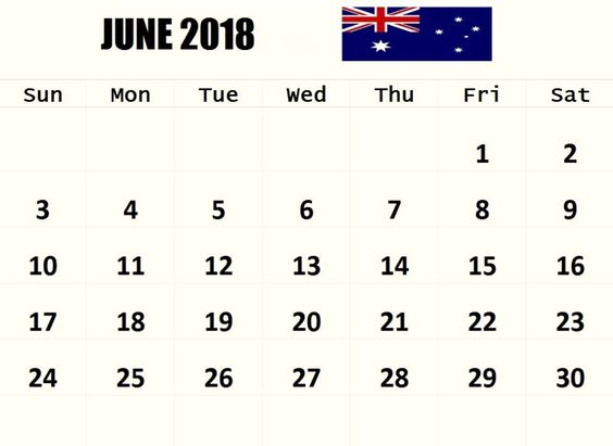 June 2018 Calendar Uk  Printable