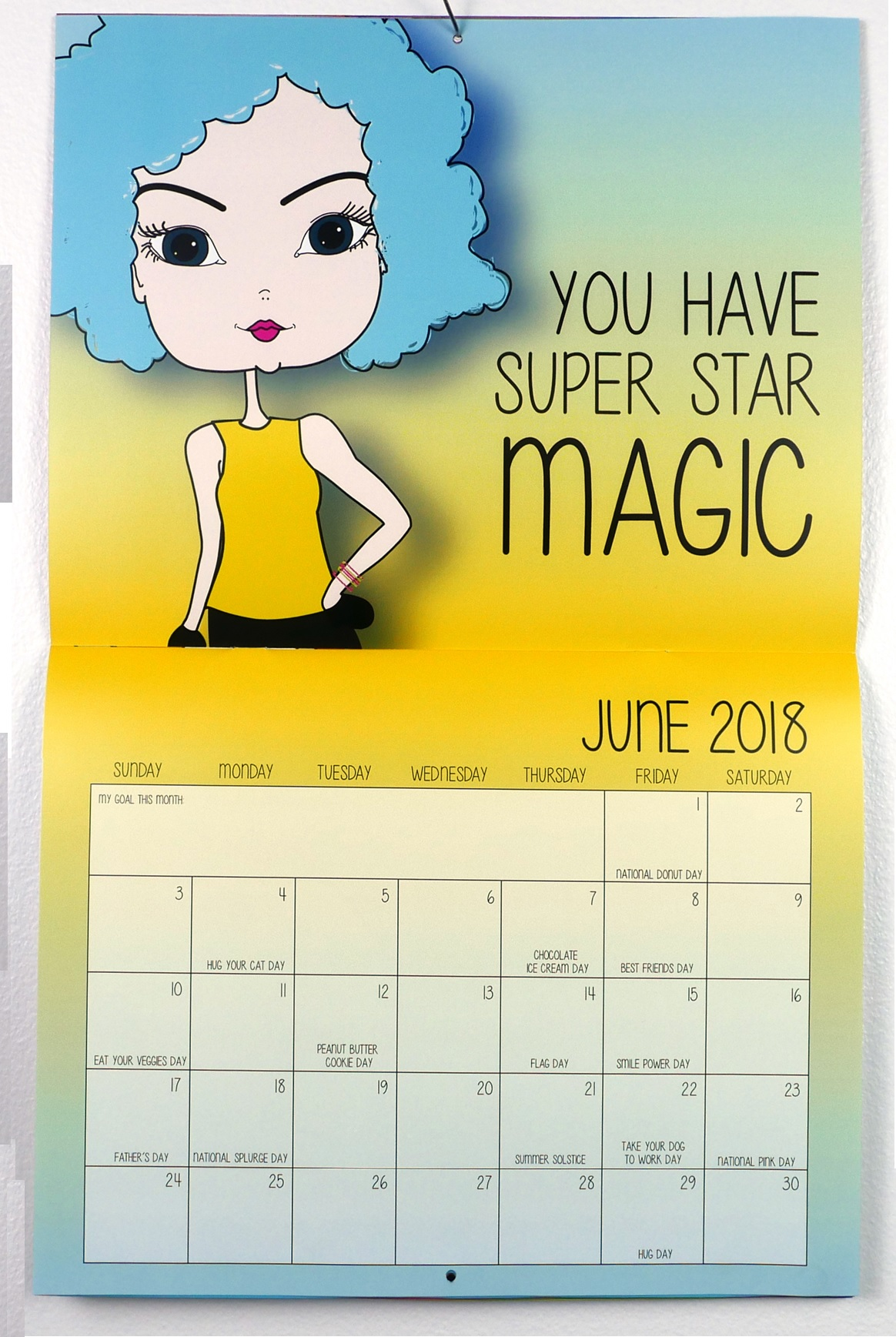 June 2018 Motivational Quotes Calendar