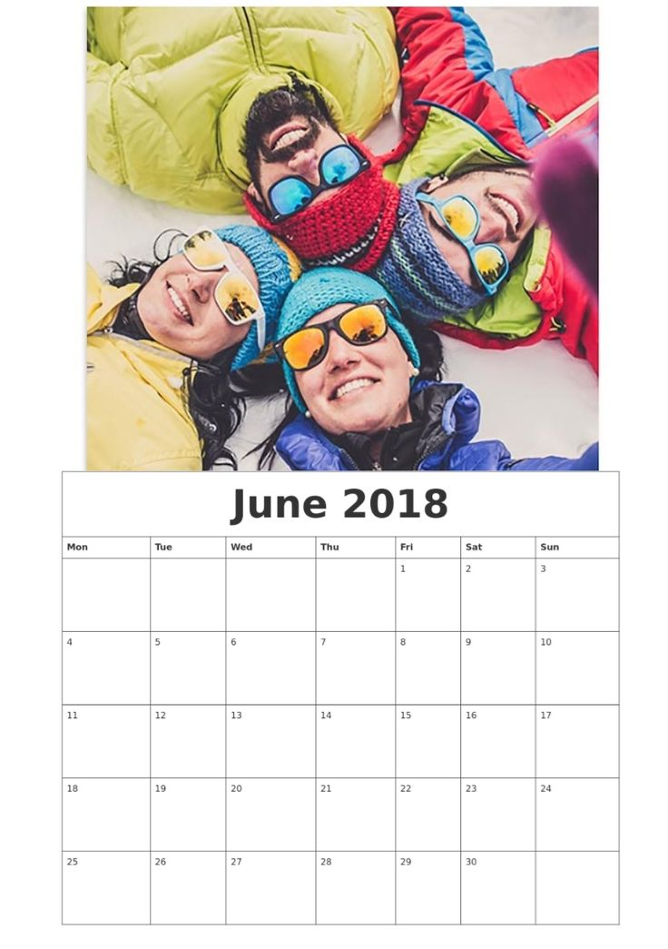 June 2018 Personalized Calendar