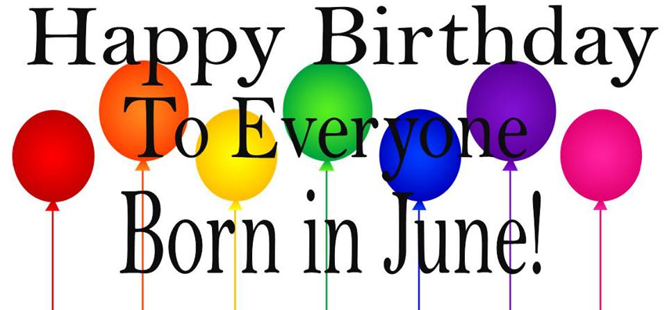 June Birthday Clipart