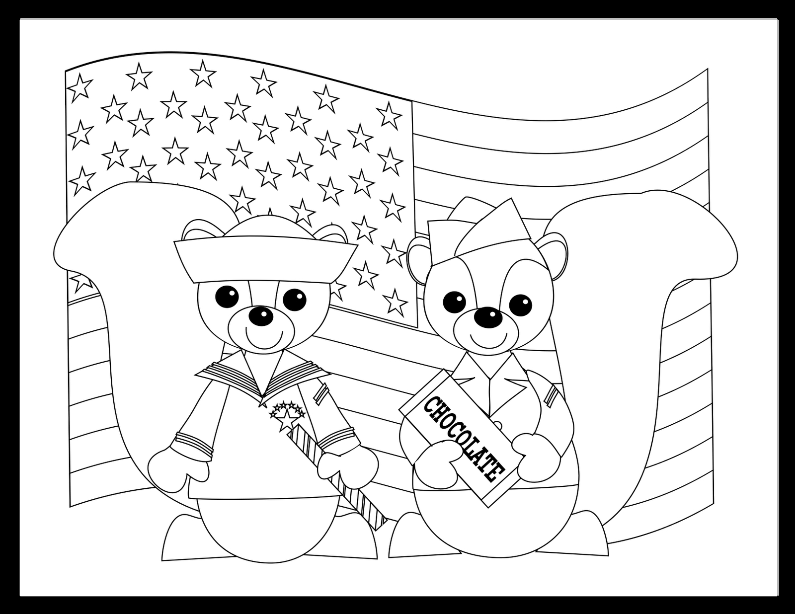 Memorial Day Coloring Pages for Kids