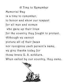Memorial Day Poems for kids