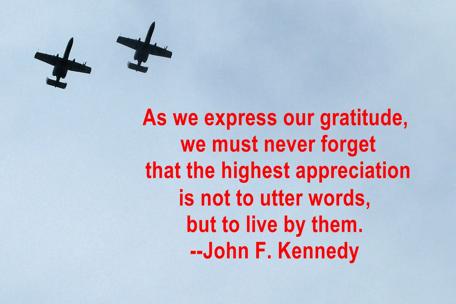 Memorial Day Sayings of Thanks