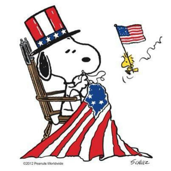 Memorial Day Snoopy Clipart