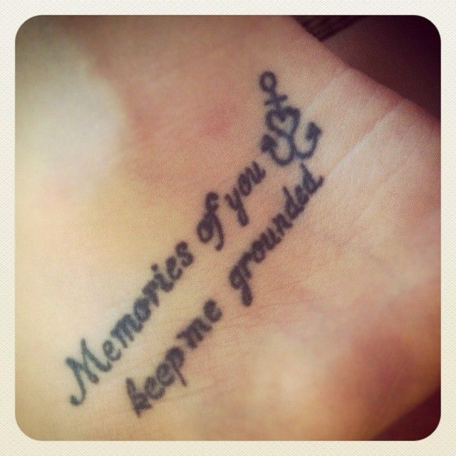 Memorial Quotes Tattoo Design