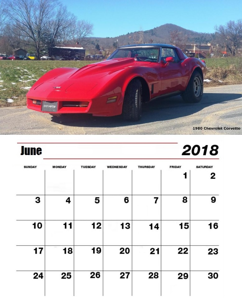 Personalized June 2018 Desk Calendar