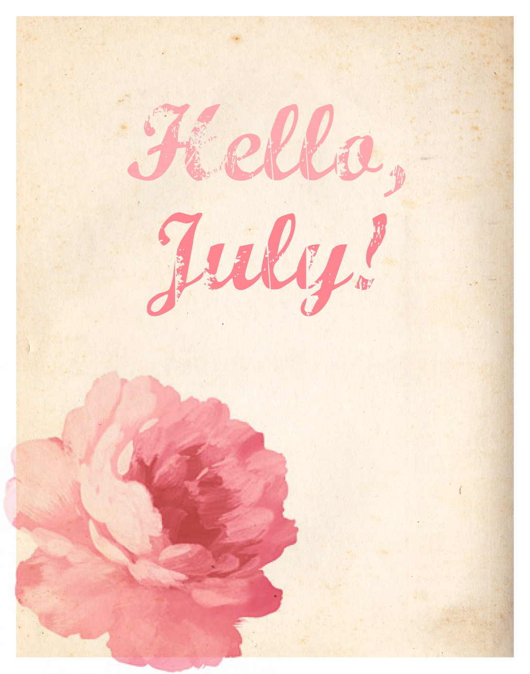 Printable Hello July Quotes Pretty