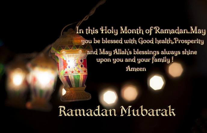 Ramadan Mubarak Wishes In English