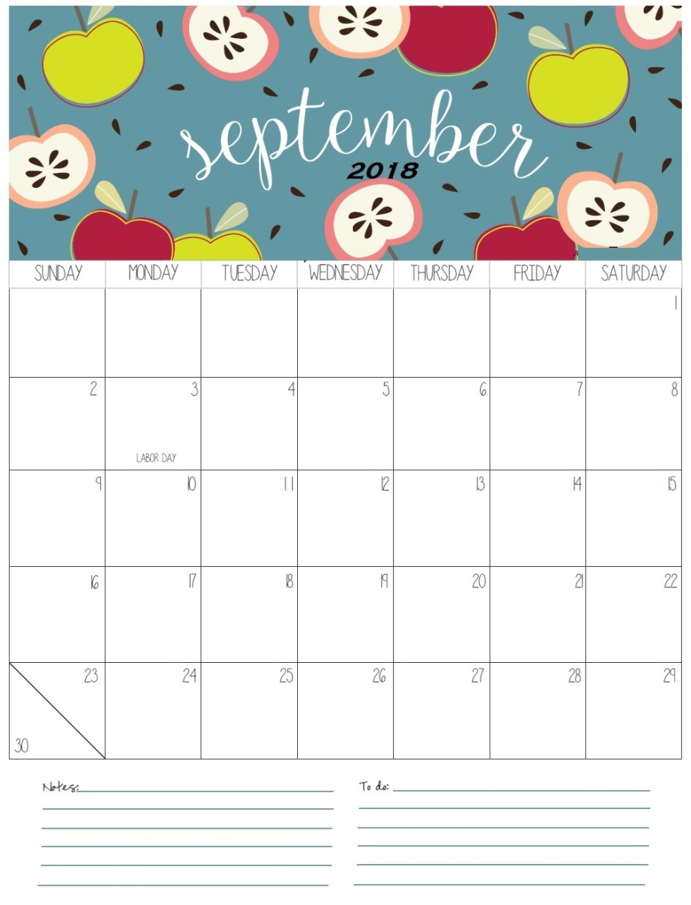 September 2018 Calendar With International Holidays
