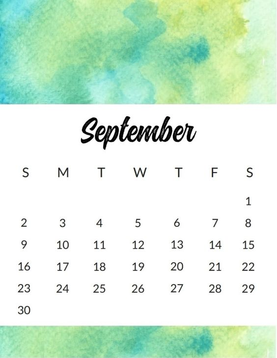 September 2018 Calendar With School Holidays