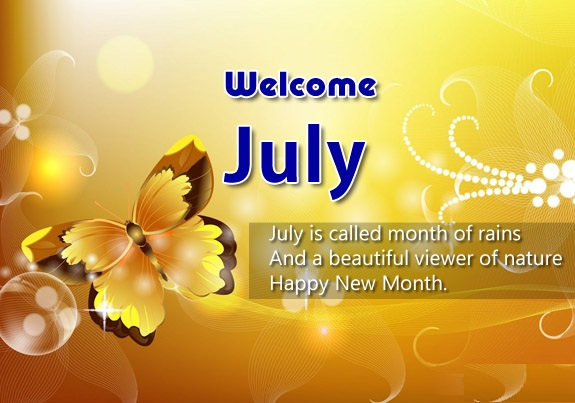 Welcome July Quotes 2018 Wallpaper
