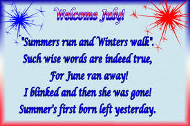 Welcome July Sparkling Quotes Cards