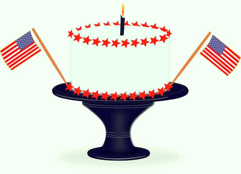 4th of July Cake Clipart