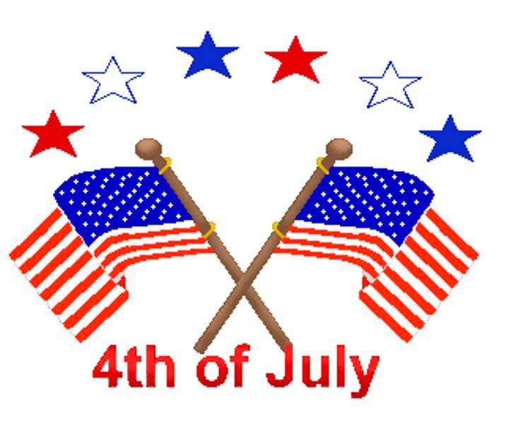 4th of July Flag Clipart